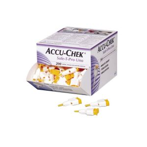 Accu-Chek Safe T Pro Uno Lancing Device (Box of 200)