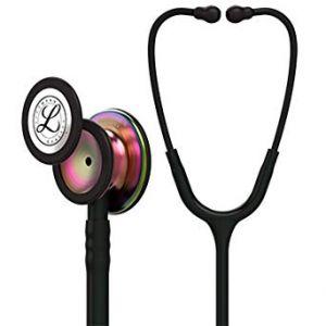 Littmann Stethoscope Classic III: Black w/ Rainbow Chest-Piece 5870