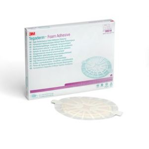 3M™ Tegaderm™ High Performance Foam Adhesive Dressing 90616, Small Oval, Box of  5