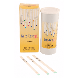KETO-TEST GK Urine Strips (Pack of 100 Tests)