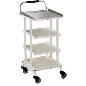 Premium Drug Trolley Full SS - 4 Tray - Cw 35 C
