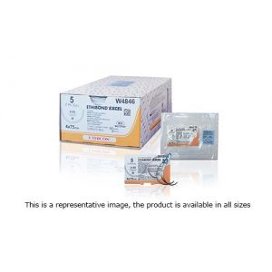 W10B55-1/2 Circle Tapercut SX Double Needle, 2-0, 17mm, ETHIBOND EXCEL Braided 75 cm Multistrand