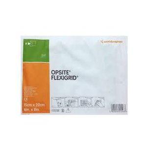 Smith & Nephew OPSITE FLEXIGRID Moisture Vapour Permeable Adhesive Film Dressing 10cm x 12cm,Box of 50