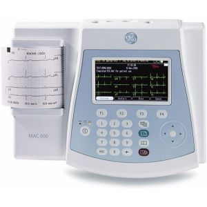 GE MAC 600 12 lead Color Resting ECG Communicator model with Interpretation and SD card
