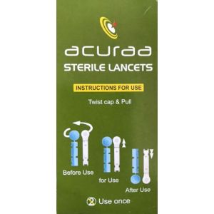 Acuraa Sterile Lancets (Box of 100)
