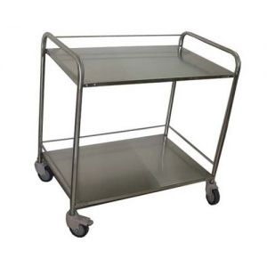 PREMIUM INSTRUMENT TROLLEY SS 2 SHELF CW 43
