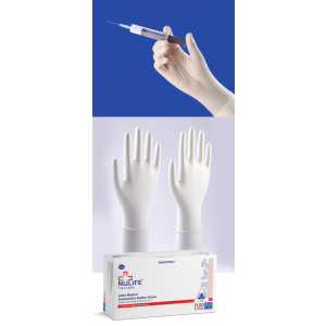 Nulife Latex Examination Powdered Gloves, Box of 100