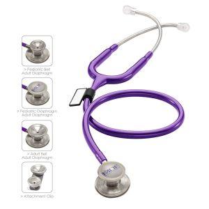MDF MD One Epoch Titanium Dual HeadStethoscope - Adult - PurpleRain/Purple/MDF08