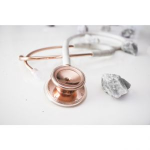 MDF MD One SS Stethoscope Marble Rose Gold
