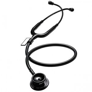 MDF MD One Stainless Steel Stethoscope - Black Black out