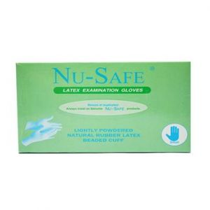 Nu-safe Lightly Powdered Exam Gloves, Box of 100