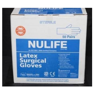 Nulife Sterile Powder Free Surgical Gloves, 50 Pair