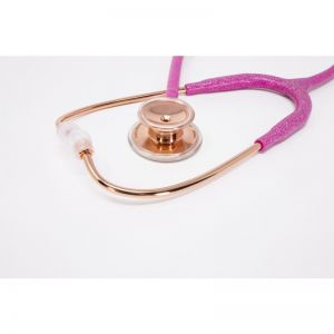 MDF MD One SS Stethoscope Fairy Pink Gliter Rose Gold