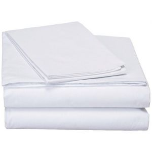 Bedsheet (White Poly Cotton Mix ) 58'' X 90''(WN)