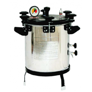 Portable vertical autoclave electric semi automatic