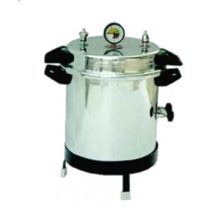 Portable vertical autoclave aluminium non-electric