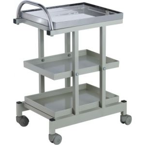 Premium Drug Trolley Full Ss - 3 Tray - Cw 35 A