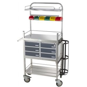 Premium Emergency Crash Cart Trolley - Cw 49