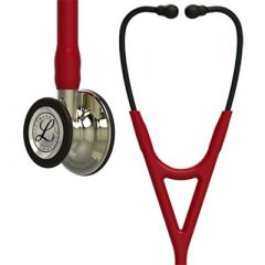Littmann Stethoscope Cardiology IV: Champagne-Finish Chest-Piece, Burgundy, 27 Inch, 6176