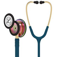 Littmann stethoscope Classic III: Rainbow Finish chest-piece with Carribean tubing 5807