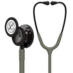 Littmann Stethoscope Classic III: Smoke Finish chest-piece with Dark Olive tubing 5812