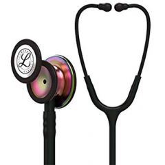 Littmann Stethoscope Classic III: Black w/ Rainbow Chest-Piece 5870