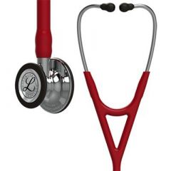 Littmann Stethoscope Cardiology IV: Mirror-Finish Chest-Piece  Burgundy Tubing, 27 Inch, 6170