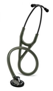 Littmann Master Cardiology: Smoke-Finish Chestpiece, Dark- Olive-Green Tube 2182