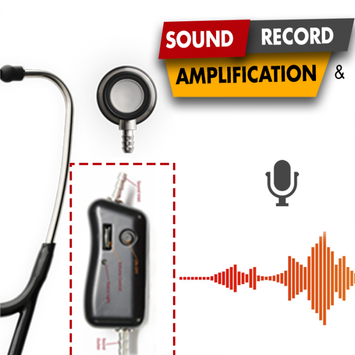 AyuLynk - Convertible Conventional Stethoscope to Digital with Module, Charger & Audio Cable