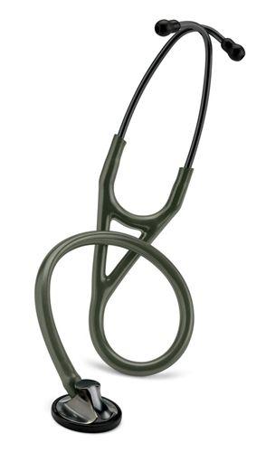 Littmann Master Cardiology: Smoke-Finish Chestpiece, Dark- Olive-Green Tube 2182