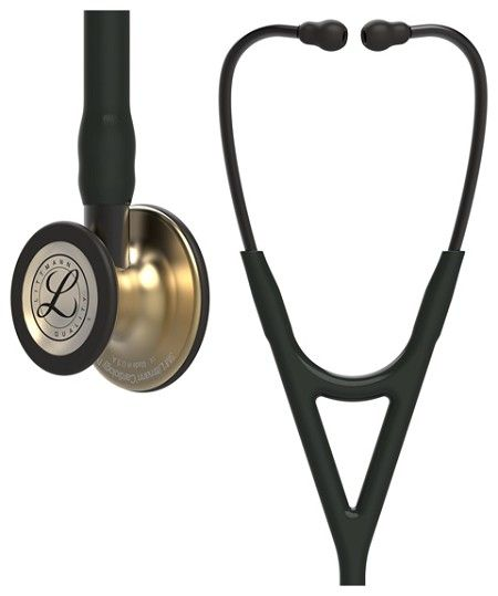 Littmann Cardiology IV: Brass FInish Chest-Piece with Black Tubing 6164