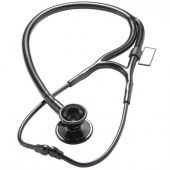 MDF Classic Cardiology Dual Head Stainless Steel Stethoscope - Black (Black Out) (MDF797BO)