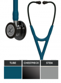 Littmann Stethoscope Cardiology IV: High Polish Smoke-Finish Chestpiece, Caribbean Blue Tube,  Mirror Stem and Smoke Headset, 27 inch, 6234