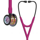Littmann Stethoscope Cardiology IV: High Polish Rainbow-Finish Chestpiece,  Raspberry Tube,  Smoke Stem and Smoke Headset, 27 inch, 6241