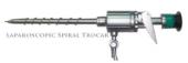 Spiral Thumb Type Steel Trocar