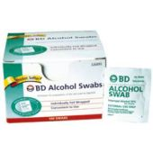 BD Alcohol Swabs, Box of 100