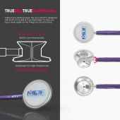 MDF Acoustica Lightweight Dual Head Stethoscope- Purple (MDF747XP08)