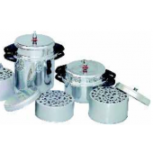 Portable vertical autoclave with aluminum rack
