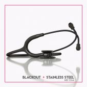 MDF MD One Stainless Steel Dual Head Stethoscope- Black (Black Out) (MDF777BO)