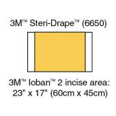 3M Ioban Antimicrobial Incise Drapes 6650, Box of 10