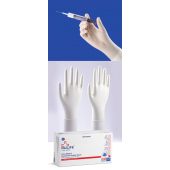 Nulife Latex Examination Powdered Gloves(EX Small), Box of 100