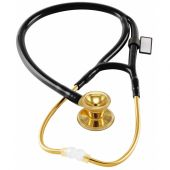 MDF Classic Cardiology Dual Head Stainless Steel Stethoscope -Gold Edition- NoirNoir (Black) (MDF797K11)