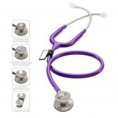 MDF MD One Epoch Titanium Stethoscope- Purple (Purple Rain) (MDF777DT08)