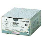PDP346H-1/2 Circle Taper Point CT-1, 0, 36.4 mm, PDS PLUS Voilet Monofilament 90 cm