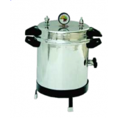 Portable vertical autoclave aluminium electric