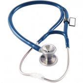 MDF Classic Cardiology Dual Head Stainless Steel Stethoscope - Royal Blue (Malibu) (MDF79710)