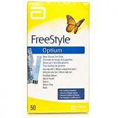 Abbott FreeStyle Optium Blood Glucose 50 Test Strips