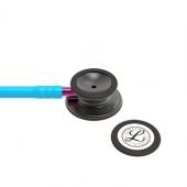 3M Littmann Classic III Monitoring Stethoscope, Smoke Chestpiece, Turquoise Tube, Pink Stem and Smoke Headset, 27 inch, 5872