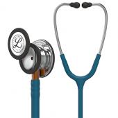 Littmann Classic III Monitoring Stethoscope, Mirror Chestpiece, Caribbean Blue Tube, Orange Stem and Stainless Headset, 27 inch, 5874