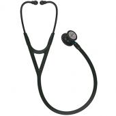 Littmann Cardiology IV Diagnostic Stethoscope, Black-Finish Chestpiece, Black Tube, Blue Stem and Black Headset, 27 inch, 6201